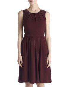 Dresses   PURPLE Crepe Pleat Back Dress   Jigsaw   Jigsaw