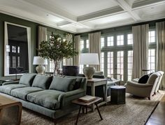Mark Cunningham Inc. color: Farrow & Ball #47 - Green Smoke in the modern emulsion finish