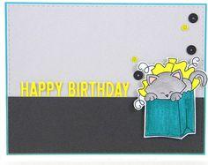 Cute Cat Birthday Card Matchbox/ Small Tiny Gift box/ от shop3xu