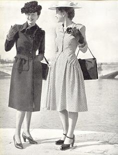 1940's Fashion - A young womans wardrobe plan 1947