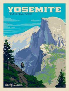 Anderson Design Group – American National Parks – Yosemite National Park: Half Dome Vista