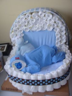 2 pins in 1 :) Diaper bassinet and diaper baby. The first one I made for a baby boy