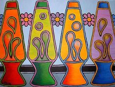 I had a random thought to do Lava Lamp art today. These are nice... Art: Lava Lamps by Artist Lindi Levison
