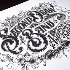 Second draw band by tobiassaul⠀ Typography Drawing, Tattoo Lettering Fonts, Types Of Lettering, Typography Letters, Lettering Design, Vintage Lettering, Steampunk, Letter Art, Letter Logo