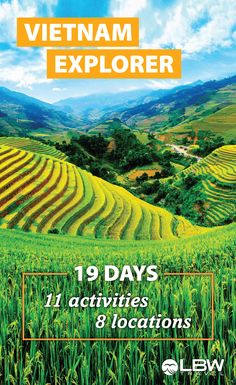 Limited spots available. 19 day Vietnam Explorer tour from Life Before Work Travel ✈. For 18 to 30 year olds. Fun, easy-going leaders guide you through moments you'll remember for the rest of your life including a Mountain Rice Field Trek, Tour of Ha Long Bay, Intro to Cuisine, Kayaking, and more. Experiences have been tried and tested to ensure the best locations. Activities, accommodation, and transportation included. Visit our website for experiences, and book your tour date early to…