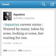 Waiting for one #aquarius