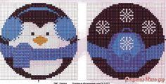 Round penguin ornament