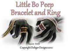 Little Bo Peep Tila Bracelet and Ring  Tutorial Pattern by debger, $7.50
