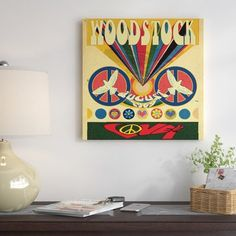 East Urban Home 'Woodstock Love Invite Poster' Vintage Advertisement on Canvas Size: H x W x D Woodstock Poster, Woodstock Music, Big Canvas, Canvas Size, Canvas Art, Vintage Advertisements, Custom Framing, Vintage Posters, Painting Prints