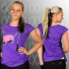 CXC Street BEAUTY SALON LONG T-Shirt Lila