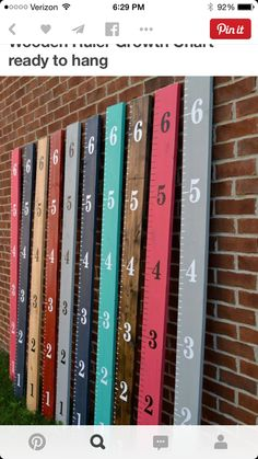 Growth chart (could be used in a craft room too)