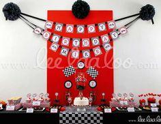 "Race / Birthday ""Vintage Race Car Birthday Party Theme - B1"" | Catch My Party"