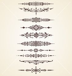Vintage decorative ornaments text dividers set vector 982738 - by Marius1987 on VectorStock®