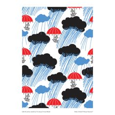 Moomin poster - Little My and her umbrella