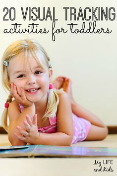 Visual tracking activities are so important because they exercise skills used for reading. Check out these 20 visual tracking activities for toddlers!