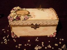How To Decorate Boxes Hand Decorated Wooden Box Gothic  Cutii  Pinterest  Wooden