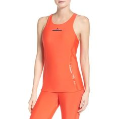 Women's Adidas By Stella Mccartney Run Tank With Built-In Bra ($90) ❤ liked on Polyvore featuring activewear, activewear tops, adidas, adidas activewear and adidas sportswear