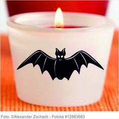Sticker Halloween - Fledermaus 6er Set