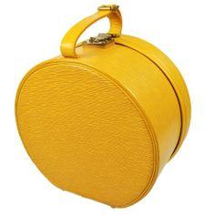 vtg LOUIS VUITTON BOITE CHAPEAUX 30 Epi-Leather Yellow Hat Case HandBag