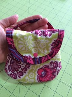 small pouch with snap and handle