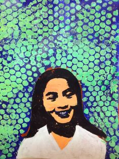6th Grade Pop Art Portrait Inspired by Roy Lichtenstein