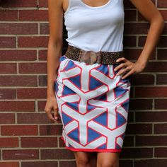 geometric pillowcase skirt...need to learn how to sew...or just get my cousin to do it...lol