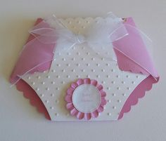 Diaper/nappy shaped baby shower invitation by playingwithpapercc