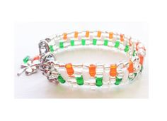 St Patrick's Day bracelet multi-strand by ShereesTrinketBox Green And Orange, St Patricks Day, Amazing Art, Irish, Flag, Beaded Bracelets, Etsy, Jewelry, Jewlery