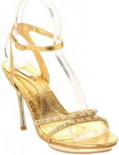 £29.99  Shoehorne Joyce-02 - Womens Gold Sparkling Rhinestone/Diamante Toe Strap High Heeled Evening Bridal Party Sandals - Avail in Ladies Shoe Size 3-8 UK: Amazon.co.uk: Shoes & Accessories