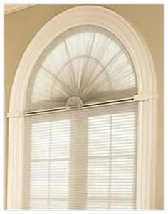 Arched window blind