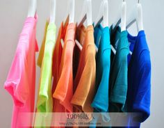 $88.36 Special Price! neon color candy colors deep V-neck base T-shirt-ZZKKO