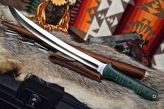 CFK USA iPak Custom Handmade D2 Tanto Short Sword Combat Rai Wakizashi V.3 Knife #CFKCutleryCo