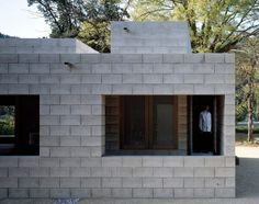 Gallery of Silent house / Takao Shiotsuka Atelier - 12 Concrete Houses, Concrete Blocks, Cinder Block House, Cinder Blocks, Silent House, Bunker Home, Minimal House Design, Cladding Materials, Courtyard House