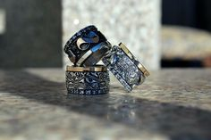 #rings sterling silver and gold 9k www.pleasureofjewellery.com