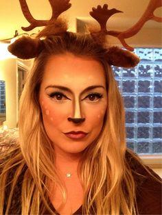 Deer makeup for hunter and his prey Halloween couple costumes. Halloween 2015, Holidays Halloween, Halloween Make Up, Halloween Crafts, Halloween Party, Halloween Decorations, Halloween Ideas, Cute Costumes, Couple Halloween Costumes
