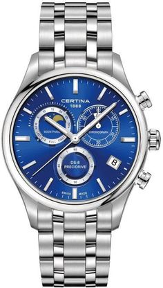 Certina Watch DS-8 Chrono Moon Phase #add-content #basel-16 #bezel-fixed #bracelet-strap-steel #brand-certina #case-depth-11-8mm #case-material-steel #case-width-42mm #chronograph-yes #date-yes #delivery-timescale-1-2-weeks #dial-colour-blue #gender-mens #luxury #moon-phase-yes #movement-quartz-battery #new-product-yes #official-stockist-for-certina-watches #packaging-certina-watch-packaging #style-dress #subcat-ds-8 #supplier-model-no-c033-450-11-041-00…