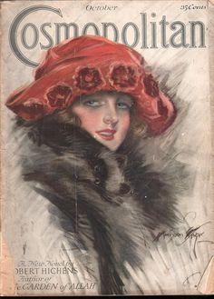 Cosmopolitan magazine, OCTOBER 1921  Artist: Harrison Fisher