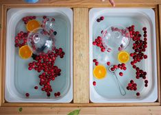 This Cranberry and Orange sensory play in the ikea flisat table is perfect for a simple Christmas time activity - or anytime really! Toddler Sensory Bins, Sensory Boxes, Sensory Table, Indoor Activities For Toddlers, Sensory Activities, Sensory Play, Simple Christmas, Christmas Time, Ikea Hack Kids