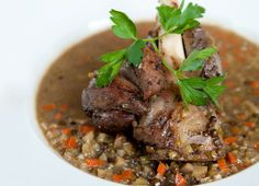 Braised Lamb Shanks with Lentils