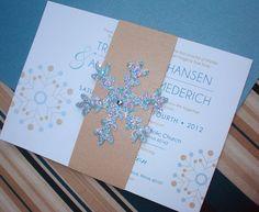 WINTER WONDERLAND TOO Snowflake Wedding Invitation - Sample. $6.00, via Etsy.
