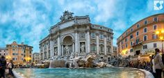 What a way to start the day!! Spending a morning at the Trevi Fountain in Rome.