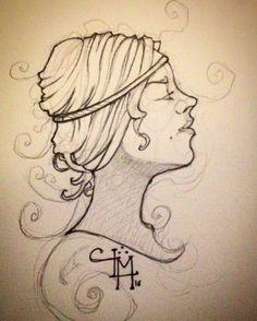"""#headshot #artnouveau #pencildrawing #instaart #artist #illustration #beauty #strathmore #doodle #sketchbook #profile"""