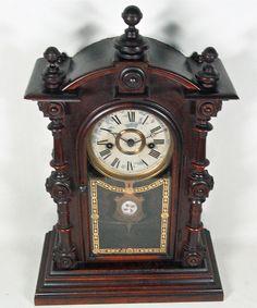 RARE Antique Welch Spring Patti V P 8 Day Rosewood Mantel Clock Original  Only…