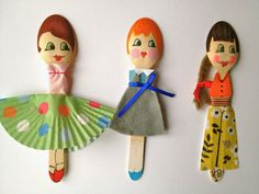 Mrs Fox's Children's crafts and parties wooden spoon dolls
