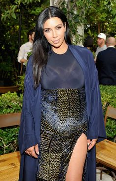 Kim Kardashian at the CFDA/Vogue Fashion Fund Show and Tea at Chateau Marmont in Los Angeles, CA - October 20, 2015