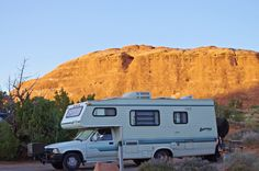Daytona by Cobra; An early 1990s motorhome, Devils Garden Campground, September 2011, Arches National Park, Utah.