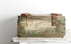 Rustic Vintage Wood Hand Grenade Crate, U.S. Military, Urban Farmhouse, Urban Industrial Crate, Wood Box with Lid