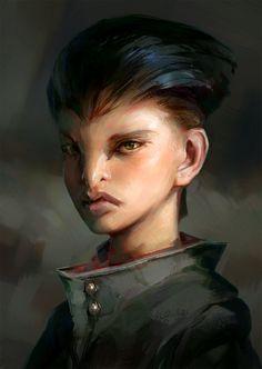 Raven girl, Jakub Javora on ArtStation at https://www.artstation.com/artwork/dQx8X