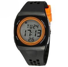 Boys Waterproof Multi Function Ultra-thin Creative Movement Digital Watches Black,Orange. Imported High quality movement. Pack: 1 pcs watch. 30 meters waterproof (not for diving and do not press button under water). Resin band with buckle closure. Fashionable, very charming for all occasions. Amazing looking watch, a great gift for friends.