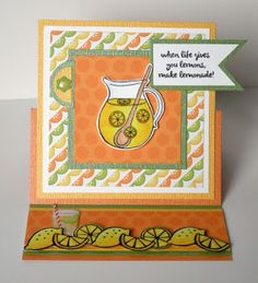 Makin' Lemonade by @scrapaddict4lc   for @therubbercafe using @doodlebug_inc  #card #stamping #creativecafekotm